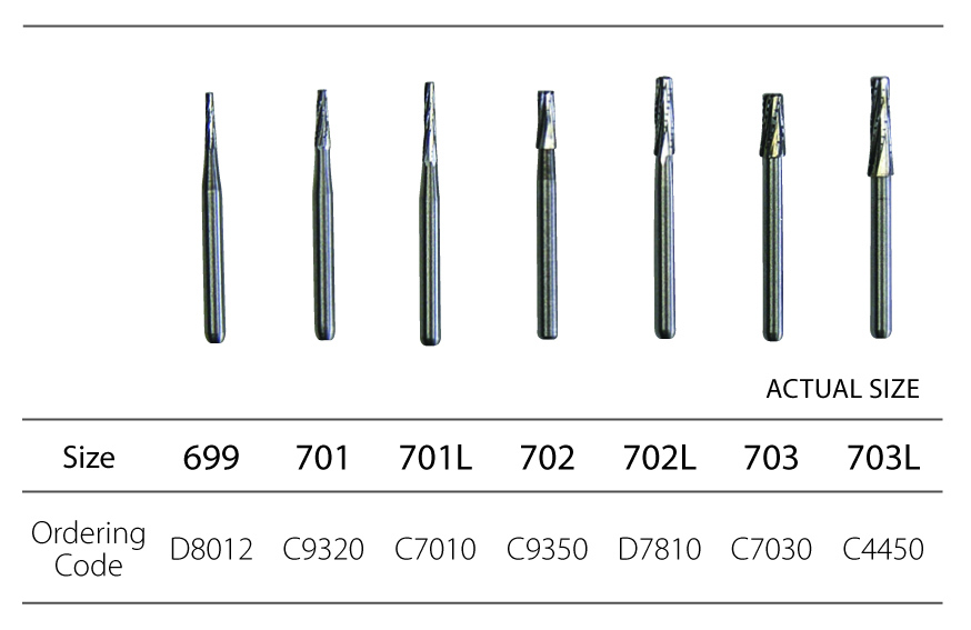 Dental Bur Xcut Taper 701 Fg Im3 Vet Ltd